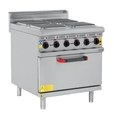 Electric Cooker With Oven 4 Burner