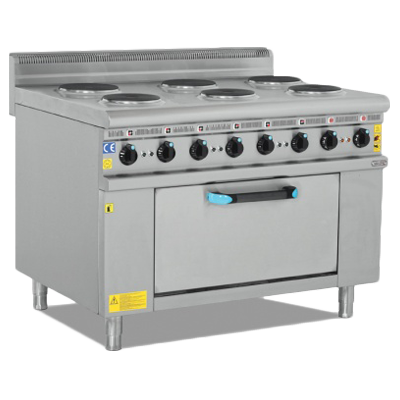 Electric Cooker With Oven - 6 Burner